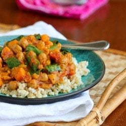 Slow Cooker Vegetable Curry Recipe with Sweet Potato & Chickpeas | cookincanuck.com