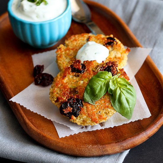 Baked Quinoa Cakes Recipe with Dried Tart Cherries & Pistachios