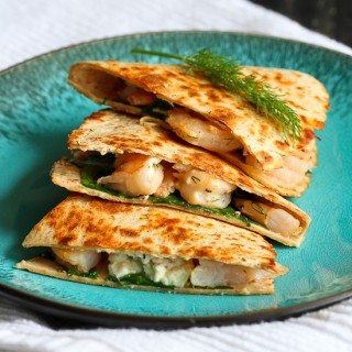 Lemon & Dill Shrimp Quesadilla Recipe