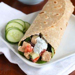 Low-Fat Greek Chicken Salad Wrap Recipe