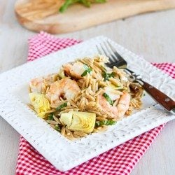 Shrimp & Artichoke Whole Wheat Pasta Salad Recipe | cookincanuck.com