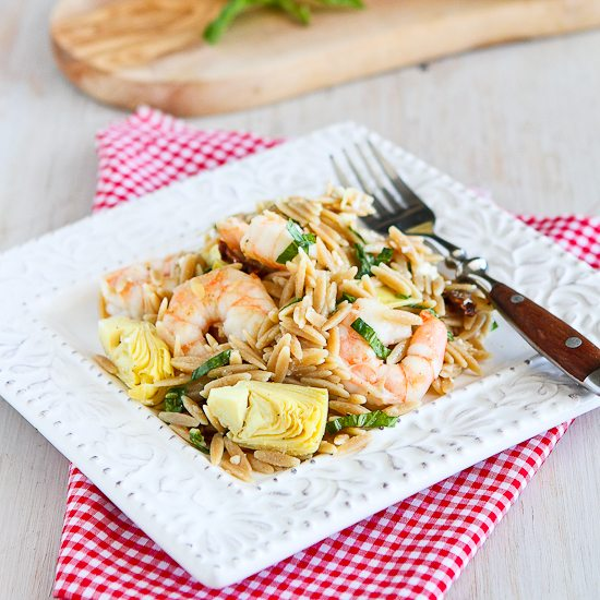 Shrimp & Artichoke Whole Wheat Pasta Salad Recipe