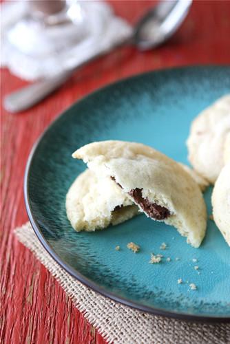 Nutella & Sea Salt Stuffed Sugar Cookie Recipe | cookincanuck.com #cookies #Nutella