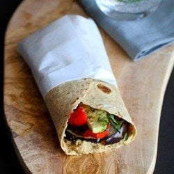 Grilled Vegetable Wrap Recipe with Hummus | cookincanuck.com