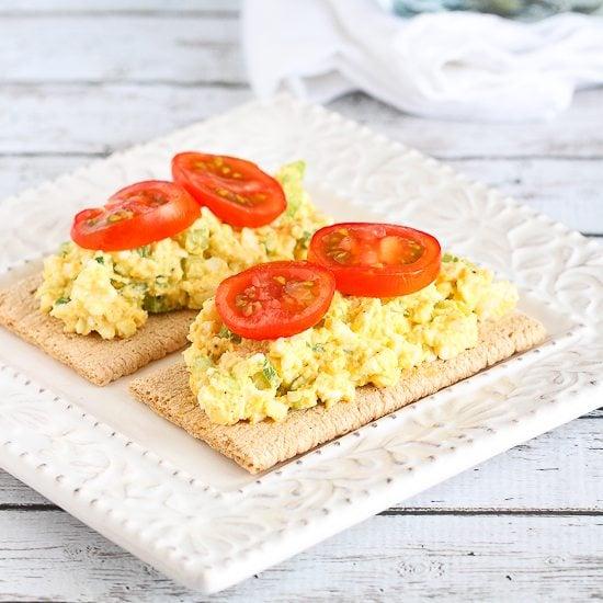 Light Curry Egg Salad Recipe with Greek Yogurt
