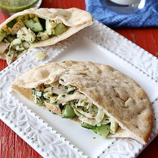 Pita Sandwich Recipe with Chicken, Hearts of Palm & Chimichurri Dressing