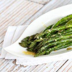 Roasted Asparagus Recipe with Dijon Vinaigrette | cookincanuck.com