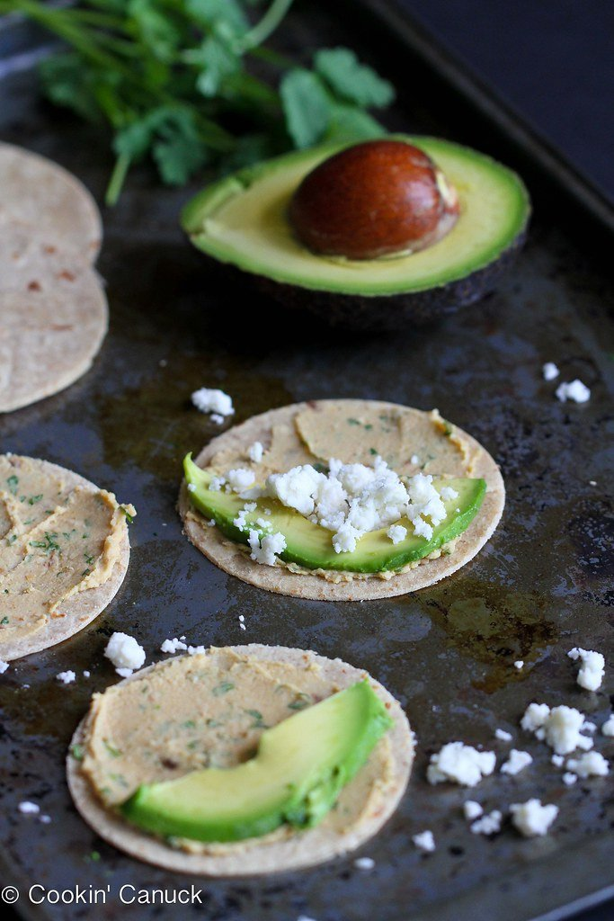 Mini Avocado and Hummus Quesadilla Recipe {Healthy Snack}...66 calories and 2 Weight Watchers PP