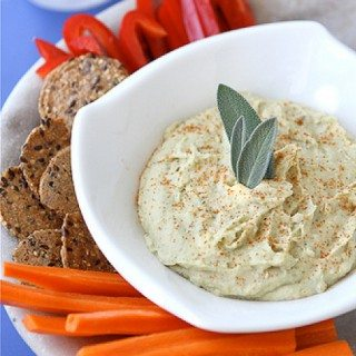 Creamy White Bean Dip Recipe with Parmesan Cheese & Sage