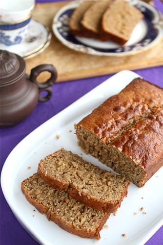 Peanut Butter &; Banana Whole Wheat Quick Bread Recipe | cookincanuck.com