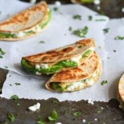 Mini Avocado & Hummus Quesadilla Recipe {Healthy Snack}