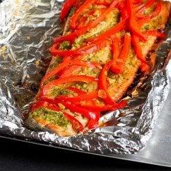 Easy Grilled Pesto Salmon in Foil Recipe
