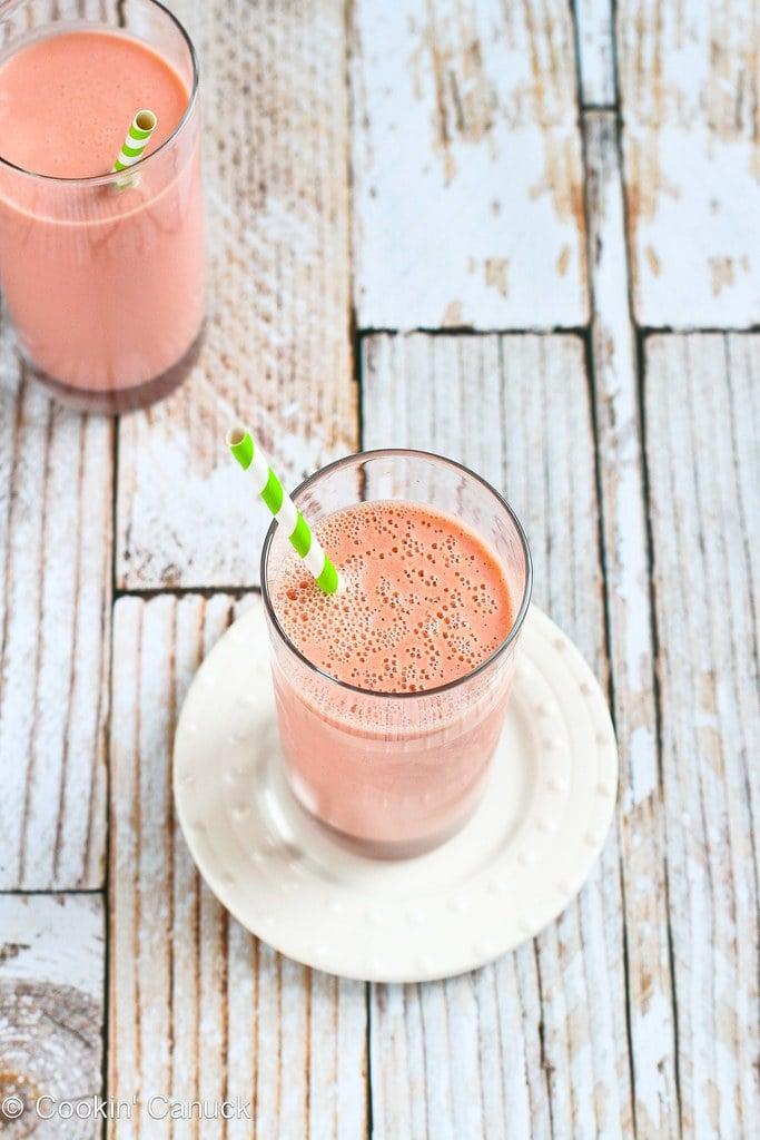 Tart Cherry & Mango Smoothie Recipe | cookincanuck.com #healthy