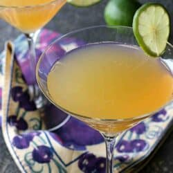 Passionfruit & Lime Gin Martini Recipe | cookincanuck.com