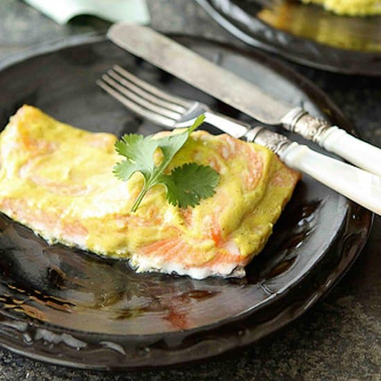 Baked Spiced Salmon with Yogurt Sauce Recipe