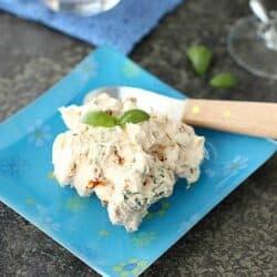 Sun-Dried Tomato & Basil Cream Cheese Spread Recipe | cookincanuck.com
