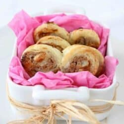 Espresso Cinnamon Cream Cheese & White Chocolate Palmiers Recipe
