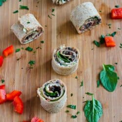 Vegetarian Pesto & Olive Pizza Roll-Ups Recipe | cookincanuck.com
