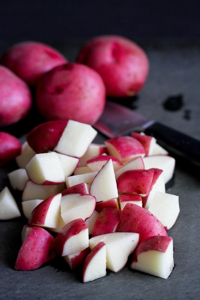 Skinny Dijon Potato Salad Recipe | cookincanuck.com #vegetarian #vegan