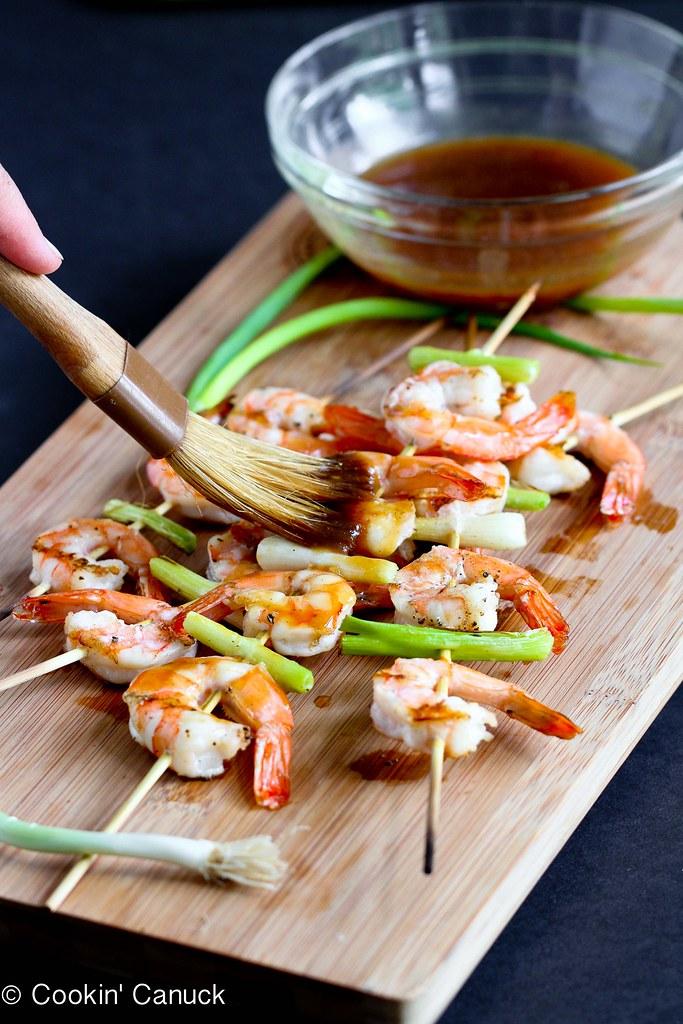 Grilled Teriyaki Shrimp Recipe | cookincanuck.com #healthy #dinner
