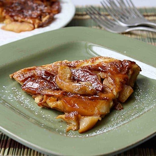 Baked German Apple Pancake (Dutch Baby) Recipe with Nutmeg & Ginger