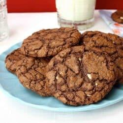 Triple Chocolate Mint Cookie Recipe | cookincanuck.com
