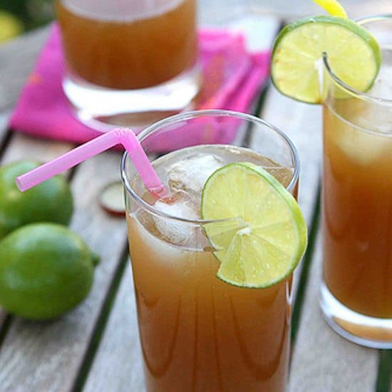 Rum Punch with Ginger Beer & Pineapple Juice