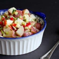 Skinny Dijon Potato Salad Recipe | cookincanuck.com