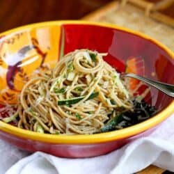 Zucchini, Capers & Garlic Whole Wheat Pasta Recipe