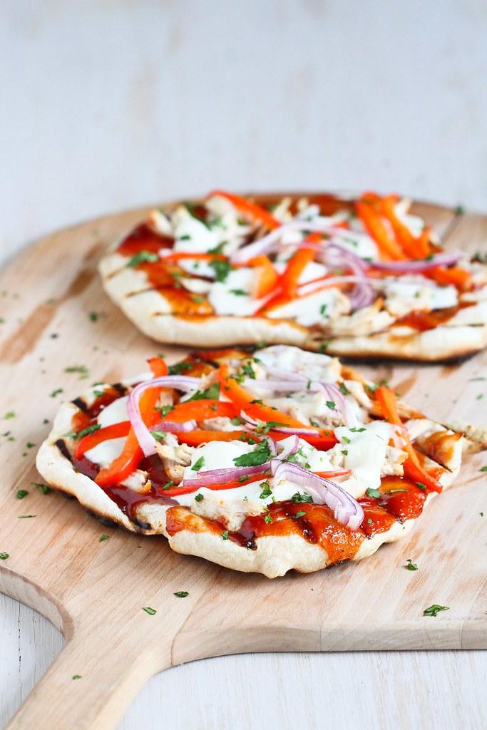 Smoky Grilled Barbecue Chicken Pizza Recipe | cookincanuck.com