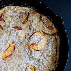 Baked Whole Wheat Peach Pancake Recipe