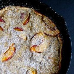 Baked Whole Wheat Peach Pancake Recipe | cookincanuck.com