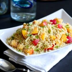 Couscous with Nectarines & Toasted Almonds Recipe