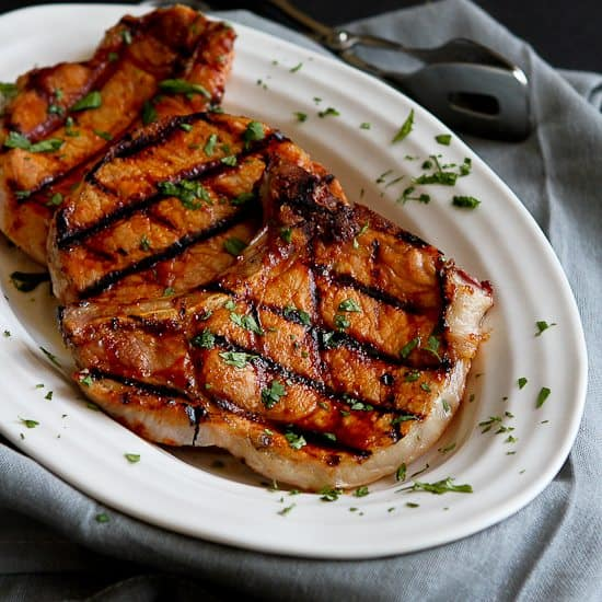 Grilled Pineapple Chili Pork Chops Recipe