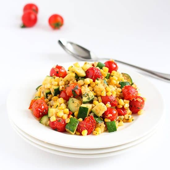 Sautéed Zucchini, Corn & Blistered Tomatoes Recipe | Cookin' Canuck