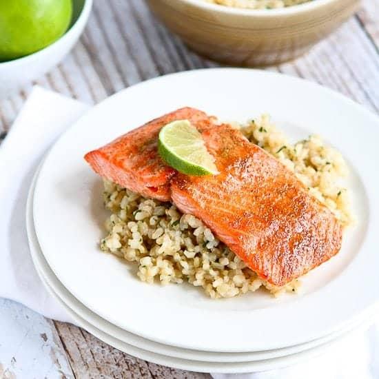 Spice Rubbed Lime Salmon Recipe