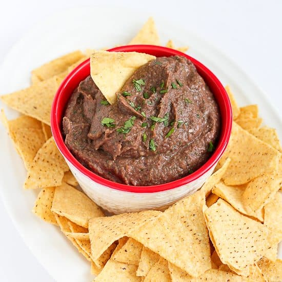 5-Minute Black Bean Dip Recipe {Healthy Snack}