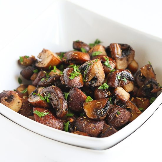 Easy Roasted Mushrooms with Rosemary & Garlic Recipe | Cookin ...