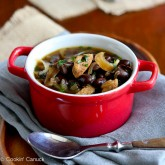 Light Sausage, Caramelized Onion & Bean Soup Recipe