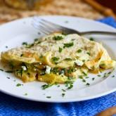 Zucchini, Onion and Feta Cheese Omelet Recipe