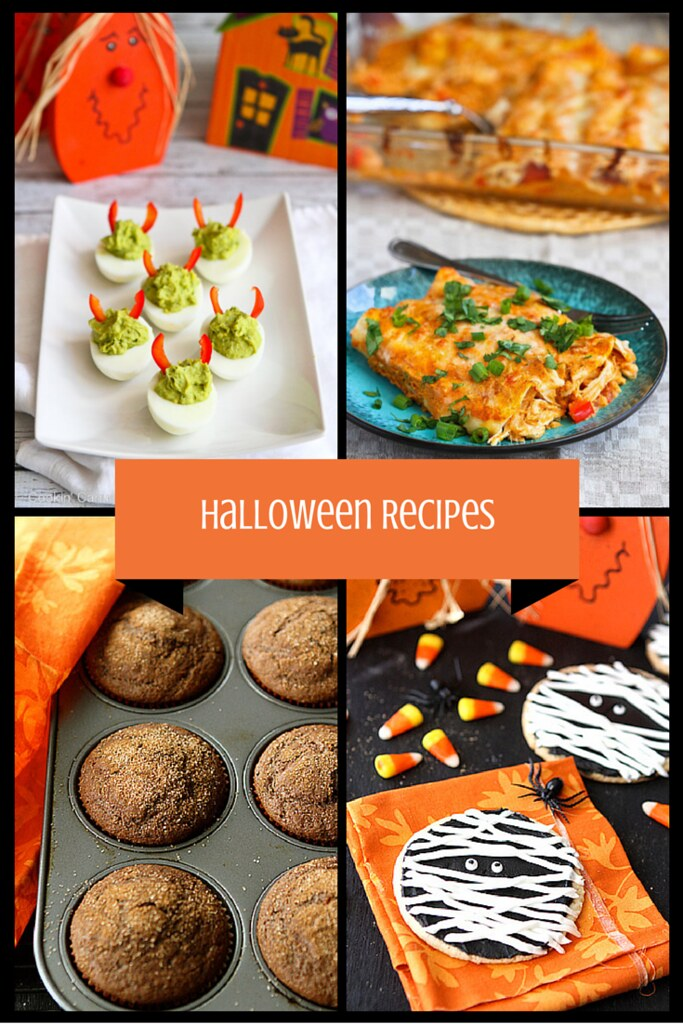 Awesome Halloween Savory & Sweet Recipes...Perfect for parties & pre-trick-or-treating snacks & dinner! | cookincanuck.com