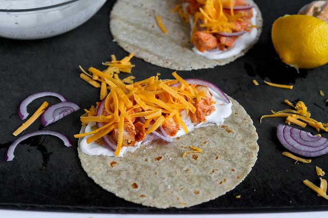 Light Buffalo Chicken Quesadillas Recipe | cookincanuck.com