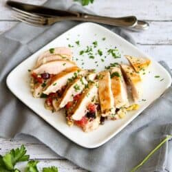Antipasto Stuffed Chicken Breasts Recipe | cookincanuck.com