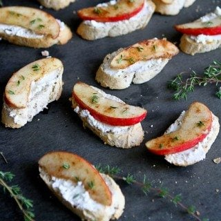 Cinnamon Apple & Goat Cheese Crostini Recipe