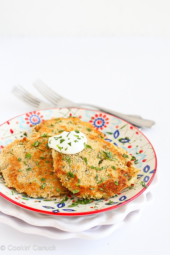Cheesy Chile Leftover Mashed Potato Patties...A great way to use up Thanksgiving leftovers! 135 calories and 3 Weight Watcher PP | cookincanuck.com #recipe #vegetarian