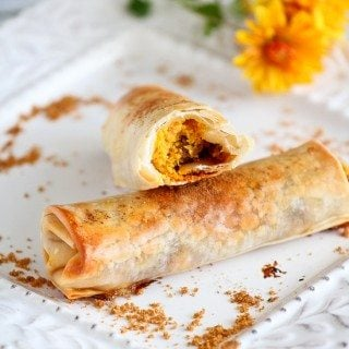 Baked Pumpkin Pie Egg Rolls Recipe
