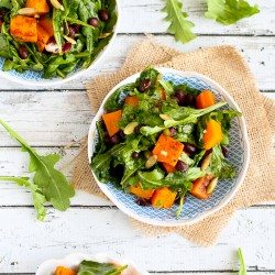 Roasted Butternut Squash Salad with Sriracha Lime Dressing Recipe | cookincanuck.com