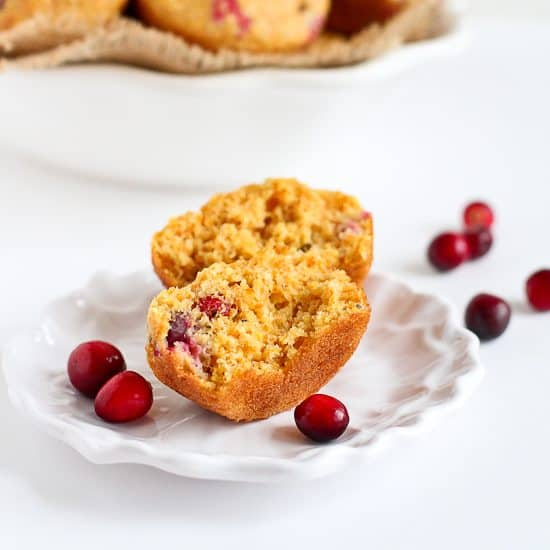 Healthy Cranberry Orange Cornmeal Muffins Recipe | Cookin' Canuck