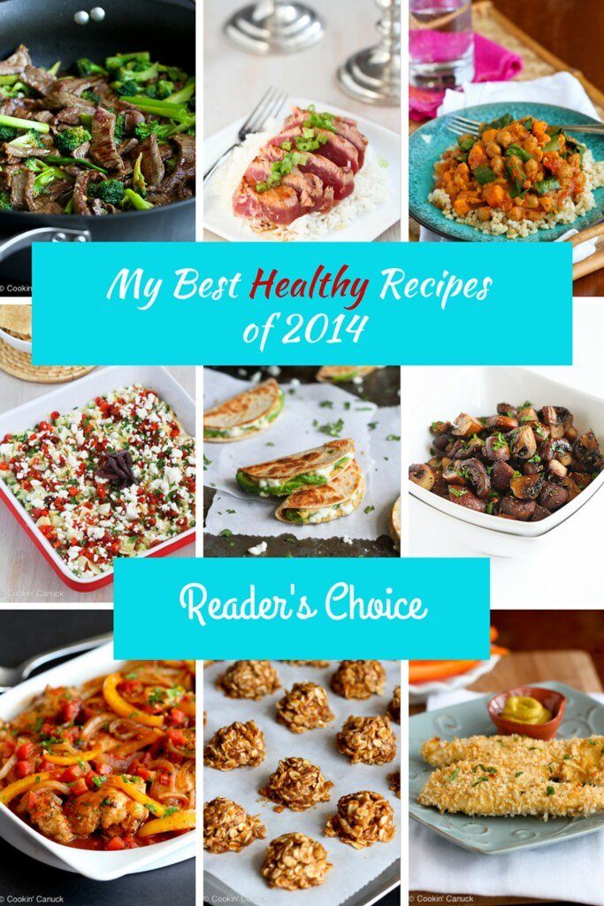 My Best Healthy Recipes of 2014 {Readers' Choice}...all with nutritional info and Weight Watchers points. | cookincanuck.com