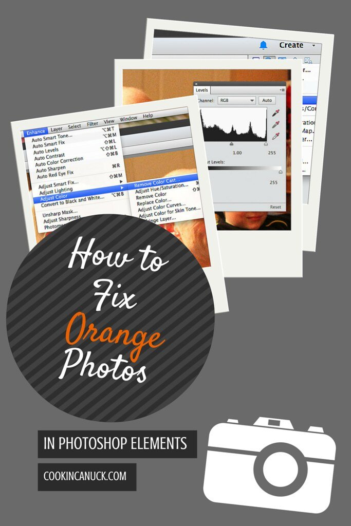 How to Fix Orange Photos in Photoshop Elements | cookincanuck.com #photography